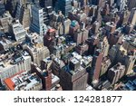Rooftops Of Manhattan In New...