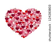 big valentines heart from small ... | Shutterstock .eps vector #124283803