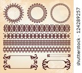 collection of baroque pattern... | Shutterstock . vector #124289257