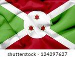 burundi waving flag | Shutterstock . vector #124297627
