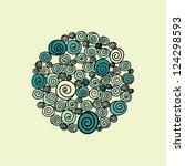 spirals  pattern  vector | Shutterstock .eps vector #124298593