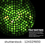 Abstract image with many green lights - stock vector