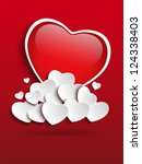Vector - Valentines Day Heart Clouds - stock vector