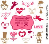 valentine's day party set  ... | Shutterstock .eps vector #124338943