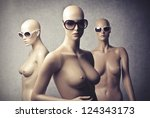 Three Female Dummy With...