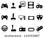 video game and joystick icons... | Shutterstock .eps vector #124355887