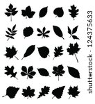 silhouettes of foliage vector | Shutterstock .eps vector #124375633