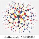 molecular structures   Shutterstock .eps vector #124381087