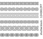 set of various ornamental... | Shutterstock .eps vector #124381297