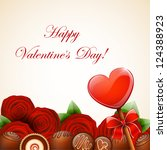 valentine s day background | Shutterstock .eps vector #124388923