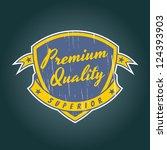 vintage crest | Shutterstock .eps vector #124393903