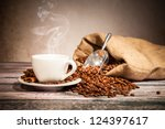 Coffee Still Life With Wooden...