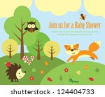 Baby Shower Card Design. Fores...