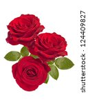 Stock photo a bunch of red roses 124409827