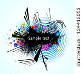 abstract vector colorful...   Shutterstock .eps vector #124412053