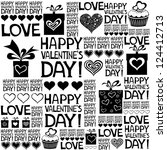 happy valentine's day.... | Shutterstock . vector #124412713