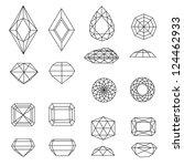 vector set of diamond design...   Shutterstock .eps vector #124462933