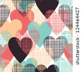 hearts seamless pattern | Shutterstock .eps vector #124464427