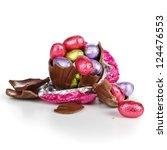 Broken Chocolate Easter Egg...
