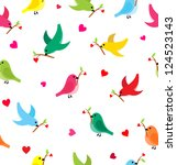 Pattern With Colorful Flying...