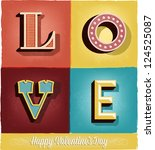 happy valentine's day hand... | Shutterstock .eps vector #124525087