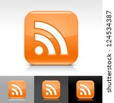 orange glossy web button with... | Shutterstock .eps vector #124534387
