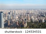 Aerial photo. Panorama of Buenos Aires, Argentina - stock photo