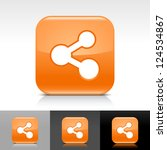 orange glossy button with white ... | Shutterstock .eps vector #124534867