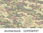 cool seamless camouflage... | Shutterstock .eps vector #124536937
