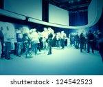 group presentation by modern...   Shutterstock . vector #124542523