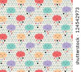 seamless pattern with hearts... | Shutterstock .eps vector #124542973
