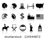 American symbol icons - stock vector