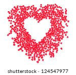 heart shaped candy in shape of... | Shutterstock . vector #124547977