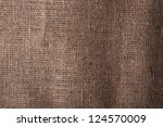 natural linen texture on background - stock photo