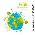 illustration environmentally... | Shutterstock . vector #124582453