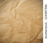 Crumpled paper background vignette - stock photo
