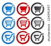 vector sticker  shopping cart ... | Shutterstock .eps vector #124591957