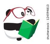 Panda And Book