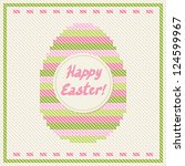 happy easter embroidery cross... | Shutterstock .eps vector #124599967