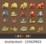 colorful car set  vector...