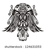 stylized symmetric vignette... | Shutterstock .eps vector #124631053