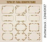 vector set of decorative ornate ... | Shutterstock .eps vector #124643437