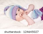 portrait of happy smiling... | Shutterstock . vector #124645027