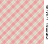 Square pattern. Vintage pink plaid seamless simple vector background. - stock vector