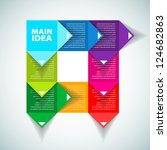 colorful process chart module   ... | Shutterstock .eps vector #124682863