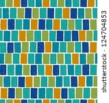 blue endless mosaic square... | Shutterstock .eps vector #124704853