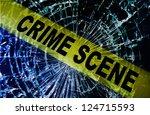 broken window with yellow crime ...   Shutterstock . vector #124715593
