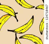 painting banana pattern | Shutterstock . vector #124718467