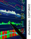 Data analyzing in forex market: the charts and quotes on display. Analytics U.S. dollar index DXYO. - stock photo