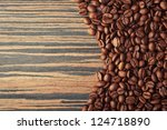 Coffee background with roasted beans - stock photo
